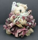 Vintage Teddy Bear In handmade Dress and Adornment