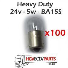 LAMPADINE 24v 5w r5w t16 291 ba15s x100 per i veicoli commerciali