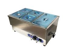 5-Pot Bain Marie Food Warmer Stainless Steel 110V 1500W