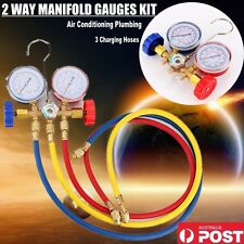 New AC Refrigeration Air Conditioning AC Diagnostic Manifold Gauge Tool Set AU