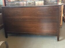 Vintage Large Mahogany Wood Storage Chest / Blanket box / Ottoman / Trunk
