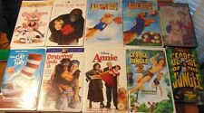 Lot of 10 ASSORTED Family Film VHS Tapes - George of The Jungle  Air Bud +