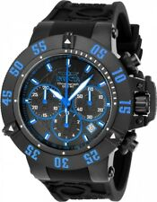 New Mens Invicta 22925 Subaqua Chronograph Black Rubber Strap Watch