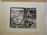ALFREDO ZALCE LITHOGRAPH SIGNED WPA STYLE  FACTORY WORKERS  RARE LIMITED EDITION