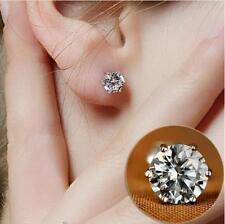 Rhinestone Crystal Silver Stud Earrings Piercing Ear Studs Women Wedding Party