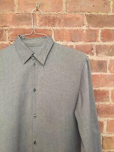 Jil Sander Mens Dress Shirt Gray Cotton Italy Size 40