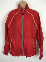 WOMENS MOVECS RED ZIP UP VERY LIGHTWEIGHT CYCLING TRAINING JACKET SIZE 40 UK 12