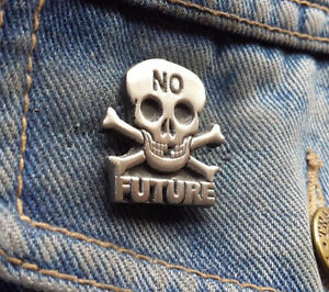 NO FUTURE Pewter Pin Badge