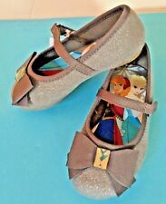 New! Disney Frozen Gray Mary Jane Flats Shoes Toddler Girls 5.5M Eur21.5 Mex12.5