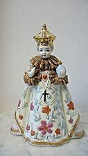 Vintage Porcelain Bisque LEFTON CHINA Jesus Infant of Prague Religious Statue