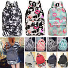 Fashion Travel Girls Women Canvas Satchel Shoulder Backpacks School Bag Rucksack
