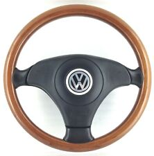 Genuine Nardi Volkswagen wood leather and steering wheel . VW Golf Polo ETC.  2E