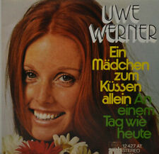 """UWE WERNER - Ein Mädchen zum Küssen allein - ariola 12427 AT   7""""   (L33)"""
