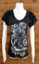 Vocal T-Shirt! Western Style w/ Boots, Roses & Rope, Bling!! - #9729S Sz Small