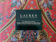 RALPH LAUREN Paisley Red Gold Blue Floral Full / Queen Duvet Cover & 2 Shams