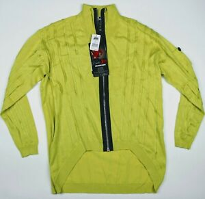 NWT JAMIE SADOCK Womens Golf Sweater Jacket Full Zip Buttercup Yellow Size M