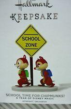 HALLMARK 2013 School Time for Chipmunks A Year of Disney Magic New in Box
