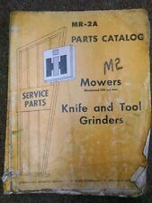 International Harvester MR-2A Knife and Tool Grinders Parts Catalog Mowers