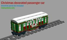 Christmas train car CUSTOM INSTRUCTIONS ONLY for lego bricks
