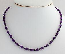 Amatista ESPINELA COLLAR, cadena de Piedras Preciosas Negro Púrpura