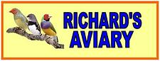 Aviary Sign Zebra Finch sign Garden Aviary Tropical Finch Sign Bird Room Sign