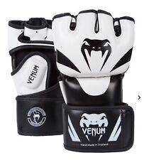 Venum Attack MMA Fight Gloves White Martial Arts Sparring Training Mitts