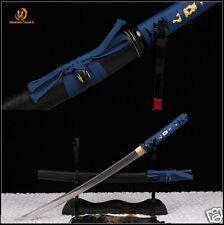 Japanese Samurai Sword Wakizashi Full Tang 1095 high carbon Steel Blade sharp.