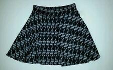 Picky Girl Black & White Check Knit Flared Mini Skirt  Juniors Size  Sz.M