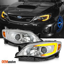 Fit C-Style 08-14 Impreza WRX LED DRL SWITCHBACK Turn Signal Projector Headlight