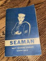 "Vintage 1952 "" Seaman"" Navy Training Courses Book"