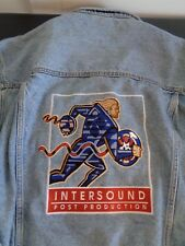 INTERSOUND POST PRODUCTION Promotional Embroidered LARGE Denim Jean Jacket USA