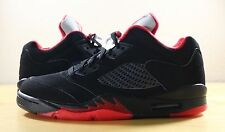 New Nike Air Jordan 5 V Retro Low Alternate 90 Black Gym Red 819171-001 sz 8