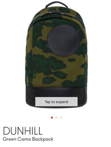 NWT AUTHENTIC DUNHILL RADIAL FOLIAGE BLUE CAMOUFLAGE RUCKSACK BACKPACK. RRP £825