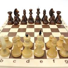 Chess in a wooden board. Traditional Board Game #24