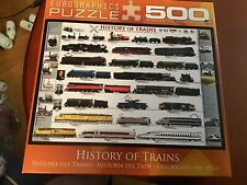 500 Piece Jigsaw Puzzle Larger Pieces History Of Trains Free Shipping
