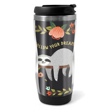 Funny Lazy Sloth Travel Mug Flask - 330ml Coffee Tea Kids Car Gift #13267