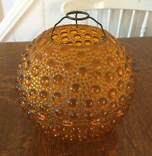 Retro vintage original 1970 1960s plastic orange round lampshade bubble texture