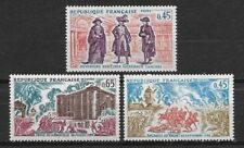 """FRANCE complète series of 3 stamps** new. 1978. """"Characters History""""     (4984)"""