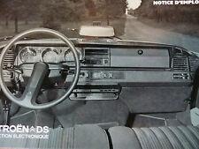 Notice d'emploi - Citroën DS 23 IE - Année 73