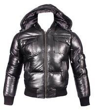 Abrigos y chaquetas de hombre cazadora de piel color principal negro