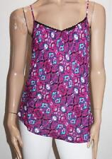 Hot Options Brand Purple Haze Lace Back Tank Top Size 10-S BNWT #SE29