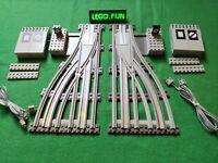 LEGO® 12V 7858 + 7859 Weichen - RC switch point (7727 7730 7740 7750 7760)