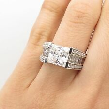 Verragio 925 Sterling Silver Large C Z Ring Size 6