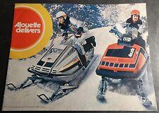 VINTAGE 1974 ALOUETTE SUPER RACE SLEDS SNOWMOBILE SALES BROCHURE 16 PAGES (322)