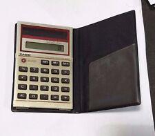 Vintage 1970s Casio SL-803 Solar Calculator Handheld Basic with Wallet