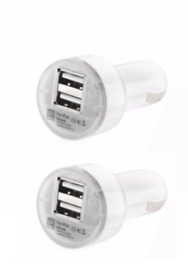 2x Universal USB Car Charger Adapter 2.1A For iPhone 4 5 6 7 Plus LG HTC Samsung