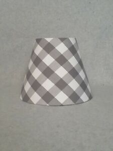 Grey Buffalo Check Lamp Shade