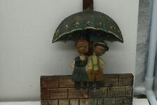 Anri Wood Carved Wall hanging Bobble Heads Key Holder Vintage