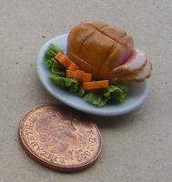 1:12 Scale Sliced Roast Ham Joint Dolls House Miniature Meat Food Accessory HW