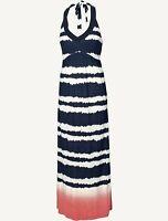 Fat Face - Women's - Bembridge Tie Dye Halter Maxi Dress - Blue - Size 10 - BNWT